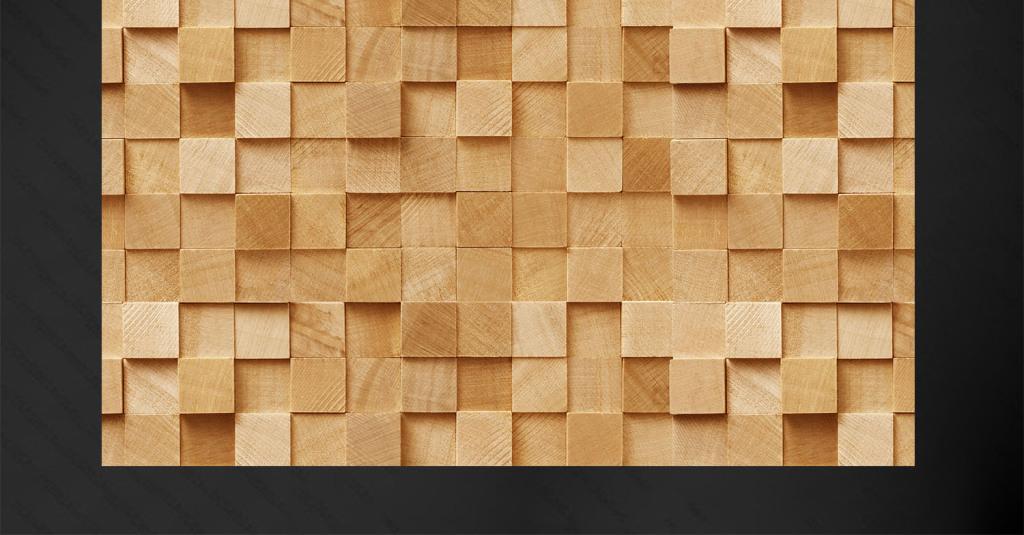 背景墙|装饰画 电视背景墙 木雕电视背景墙 > 方形木块电视背景墙图片