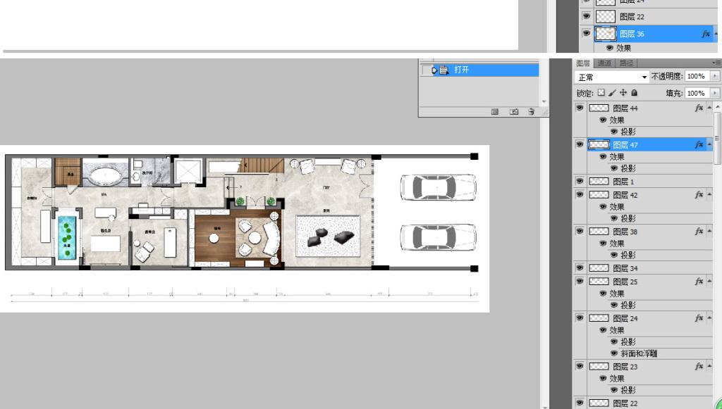 cad图库 家装施工cad图纸 彩色平面图 > 室内psd彩平图图块