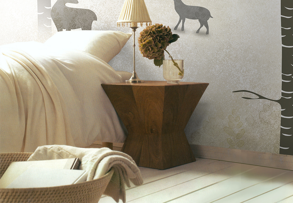 背景墙|装饰画 壁画 手绘壁画 > 现代简约北欧复古美式鹿林背景墙装饰