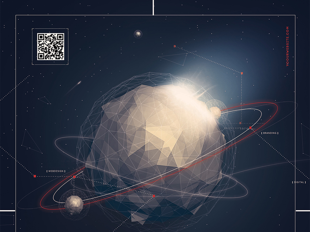 简约时尚星空未来科技商务创意宣传海报图片