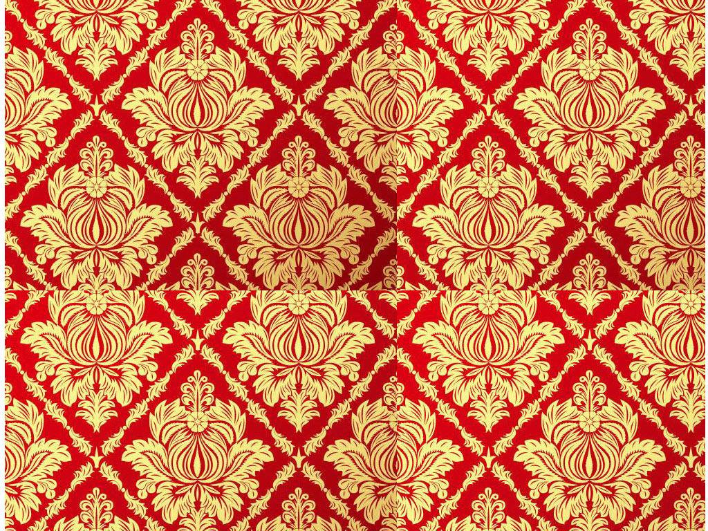红色底纹抽象花纹图案墙纸(图片编号:15476904)_欧式图片