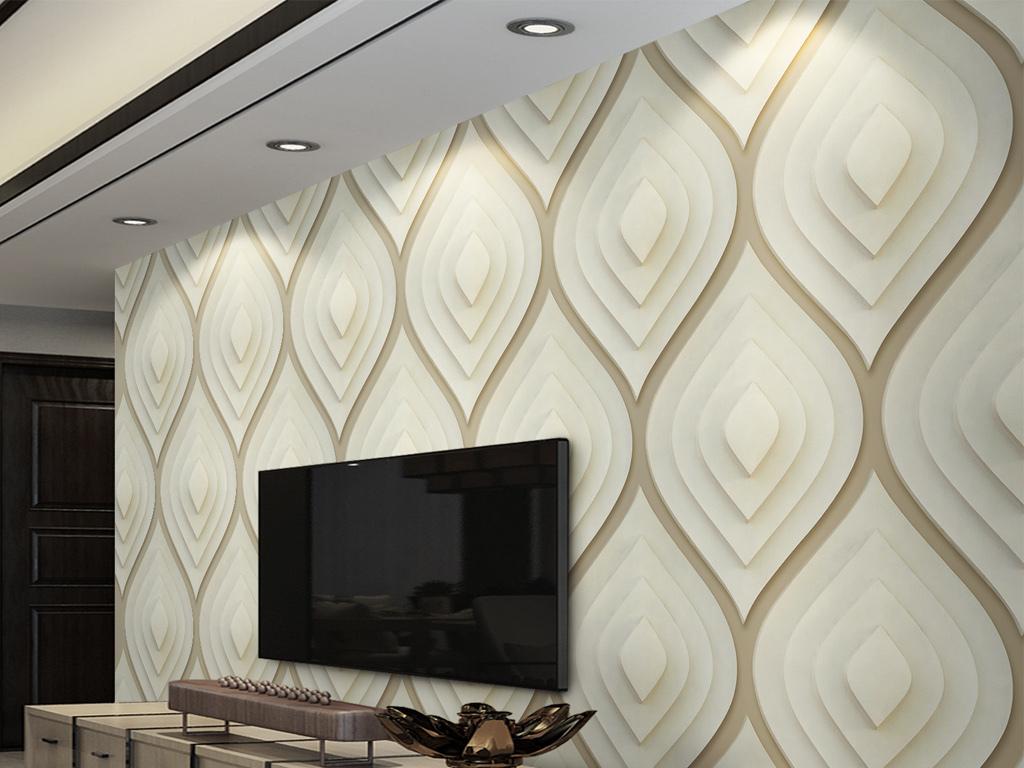3d立体几何软包电视背景墙