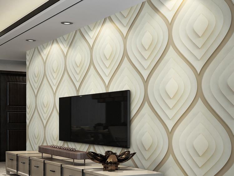 3d立体几何软包硬包美式简约电视背景墙