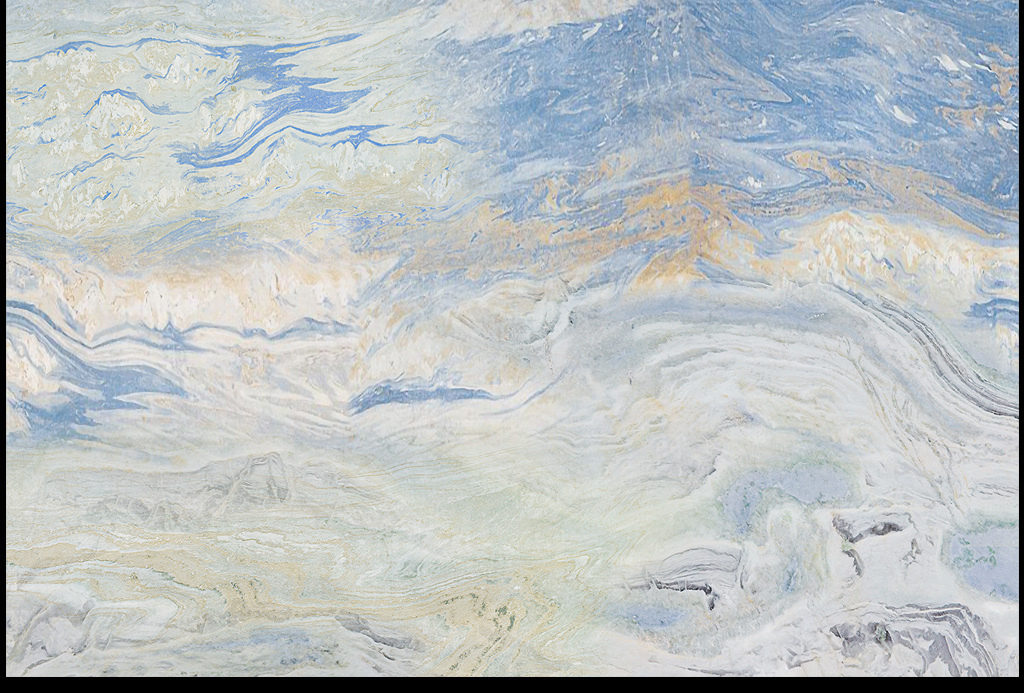 海纳百川大理石油画电视背景墙图片