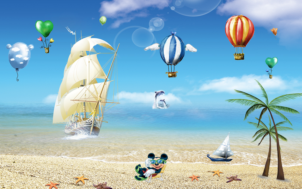 唯美海滩                                  海景海洋风景海岛