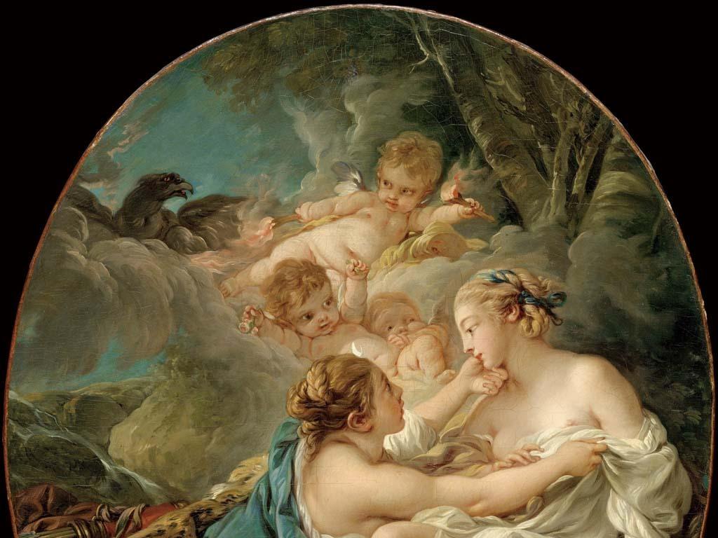 古典人体油画布歇戴安娜Callisto