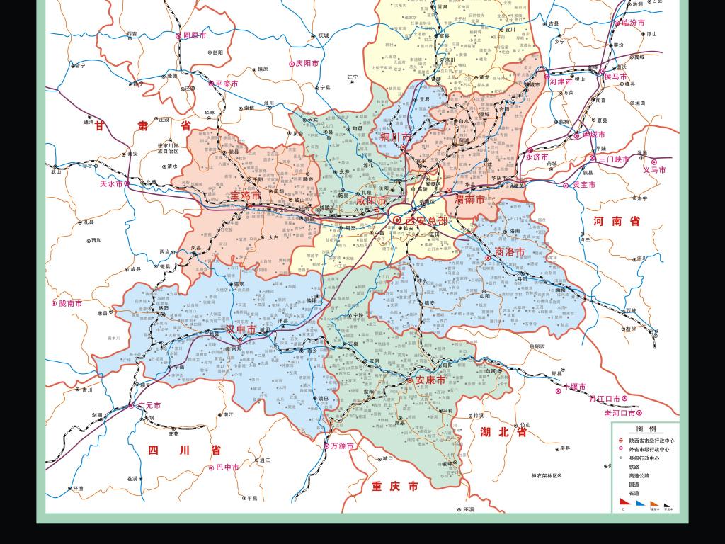 陕西地图陕西省地图陕西省行政