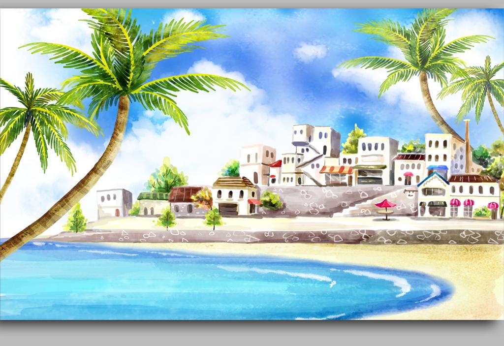 3d海岛电脑壁纸竖屏
