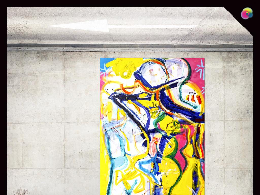 手绘高清彩色涂鸦艺术插画无框画