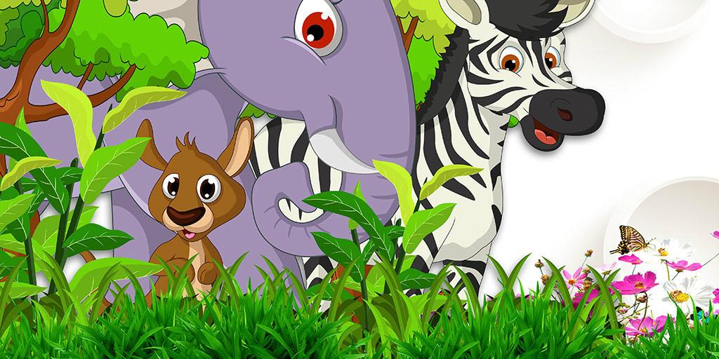 背景墙|装饰画 玄关 其他 > 可爱3d浮雕动物乐园玄关背景墙  版权图片