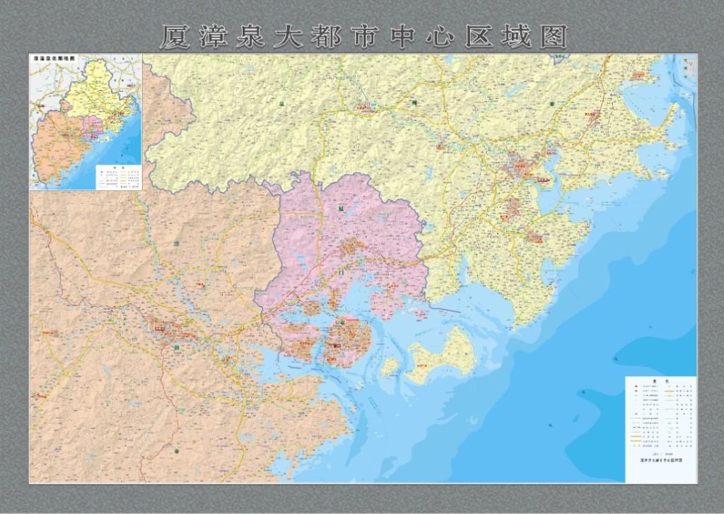 厦漳泉地图厦门漳州泉州地图超清版大图