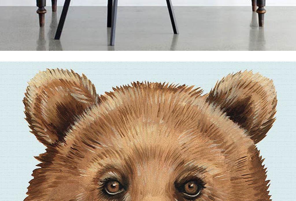 美克美家艺术手绘棕熊