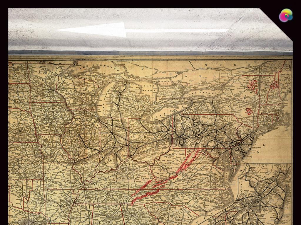 世界地图航海图电视背景墙装饰画
