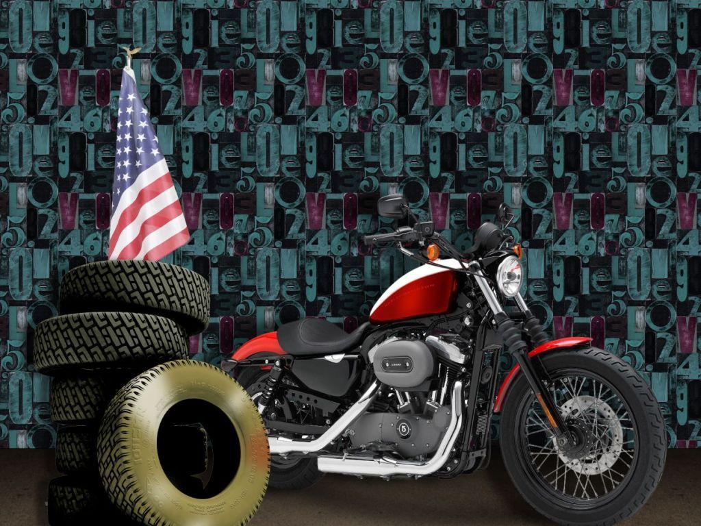 字母墙轮胎摩托车
