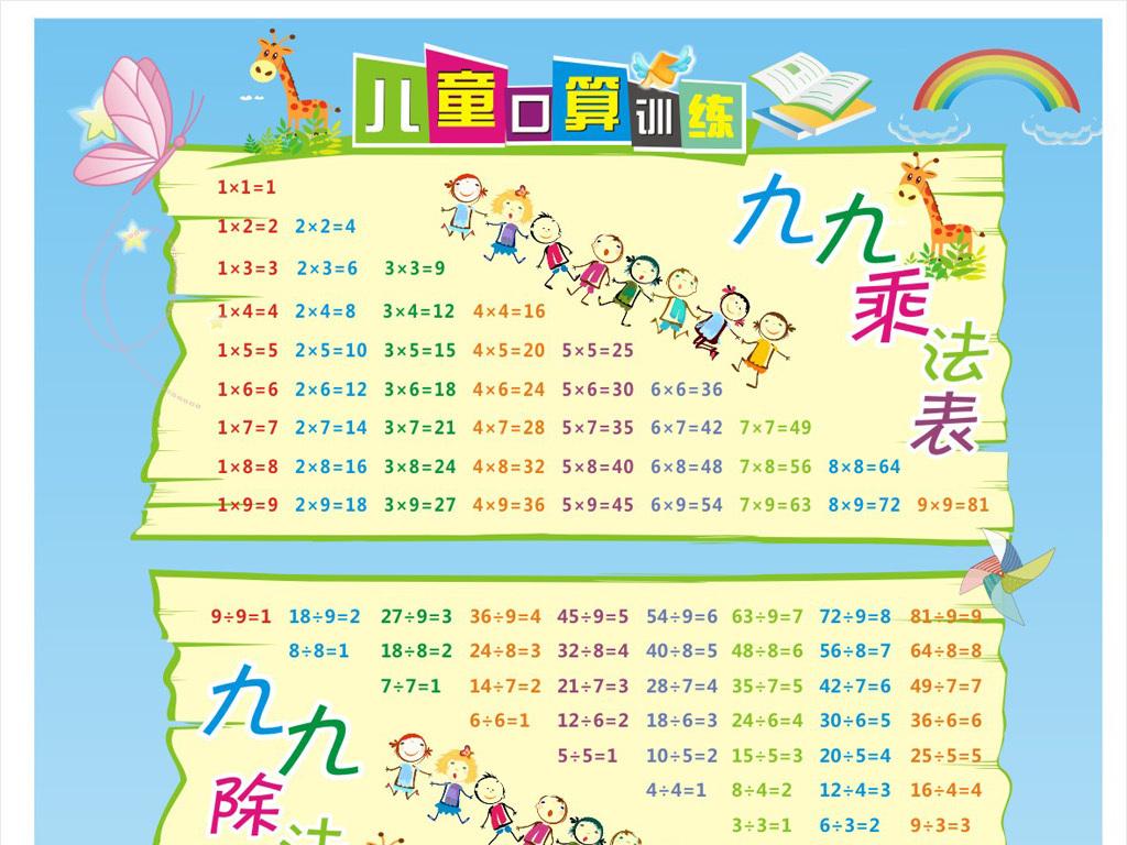 儿童口算训练表(图片编号:15493345)_数学手抄报_我