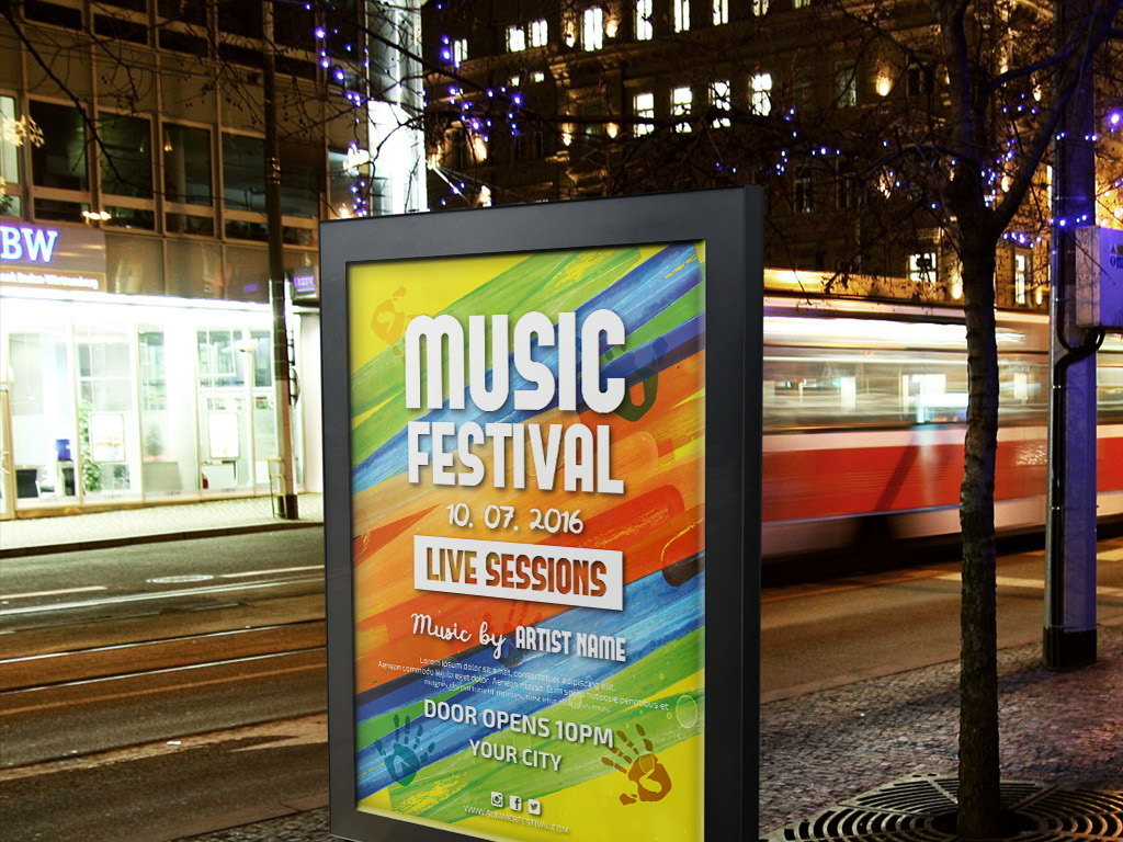艺术节音乐派对宣传海报