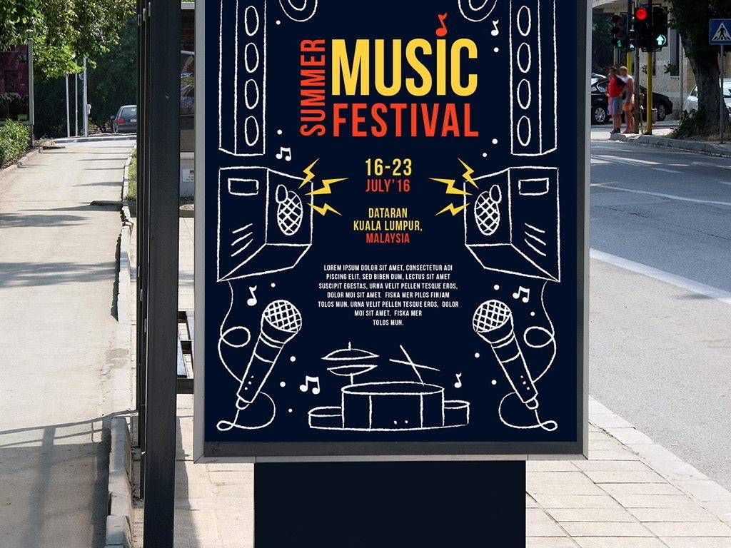 平面|广告设计 海报设计 国外创意海报 > 音乐派对宣传海报设计图片