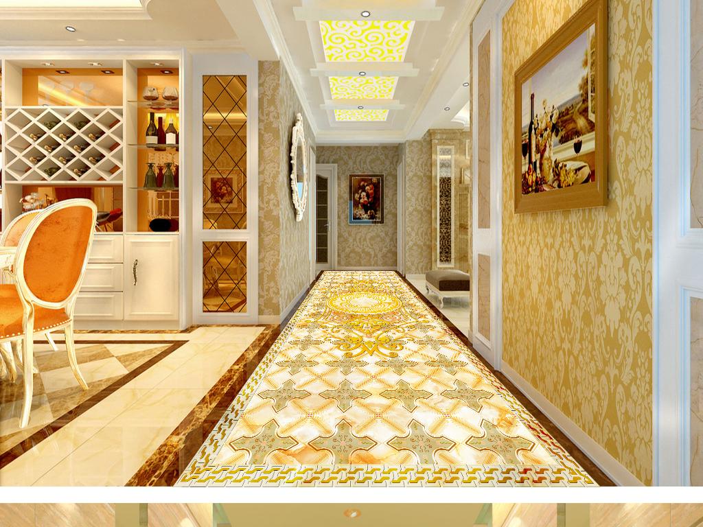 地拼花瓷砖拼花拼花地砖大理石纹走廊地砖欧式奢华奢华欧式大理石拼花图片