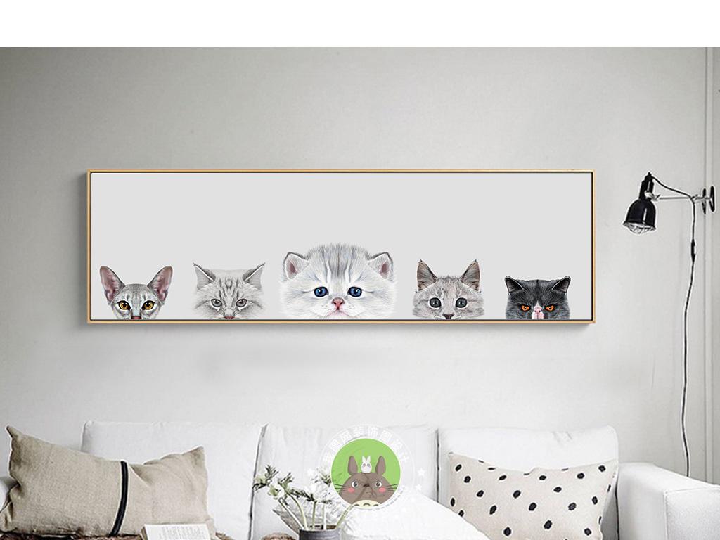 """【本作品下载内容为:""""北欧风格动物猫咪客厅装饰画""""模板,其他内容仅为参考,如需印刷成实物请先认真校稿,避免造成不必要的经济损失。】 【声明】未经权利人许可,任何人不得随意使用本网站的原创作品(含预览图),否则将按照我国著作权法的相关规定被要求承担最高达50万元人民币的赔偿责任。"""