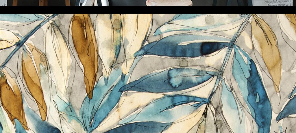 森系复古手绘插画叶子