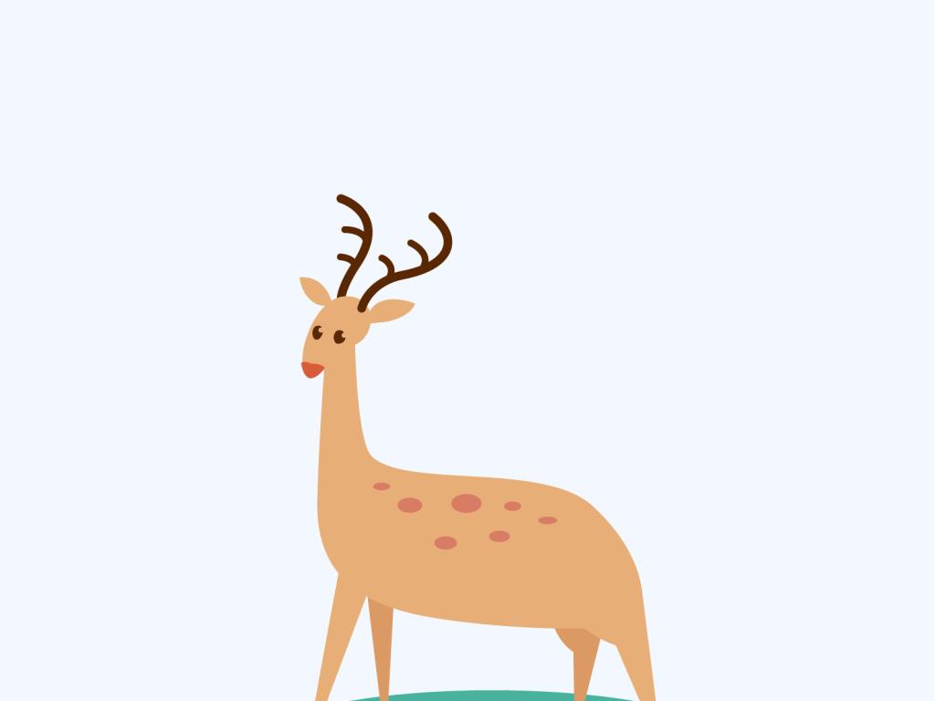 手绘鹿                                  麋鹿