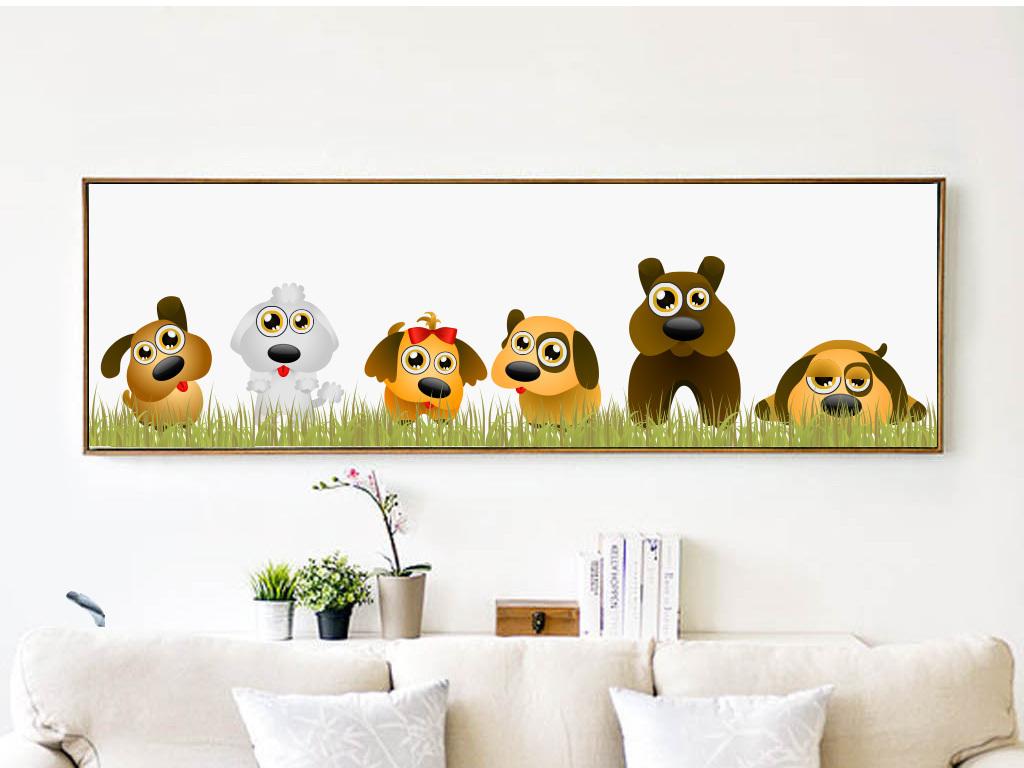 简约风格动物沙发床头装饰画