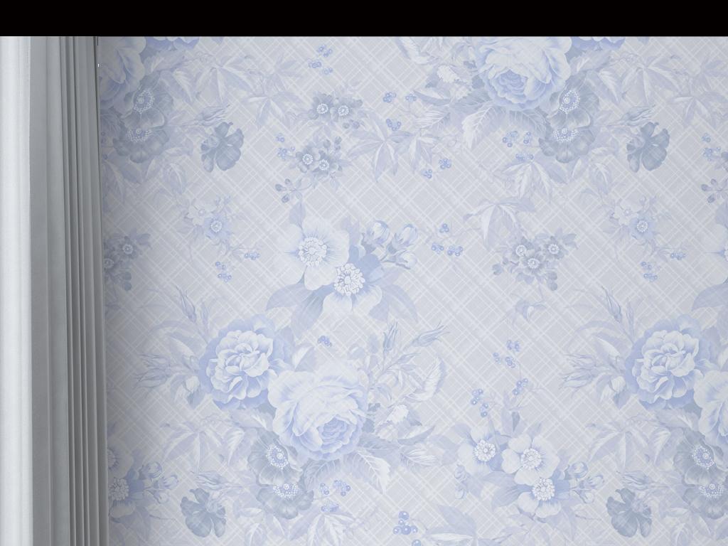 高清大气欧式花纹墙纸图片
