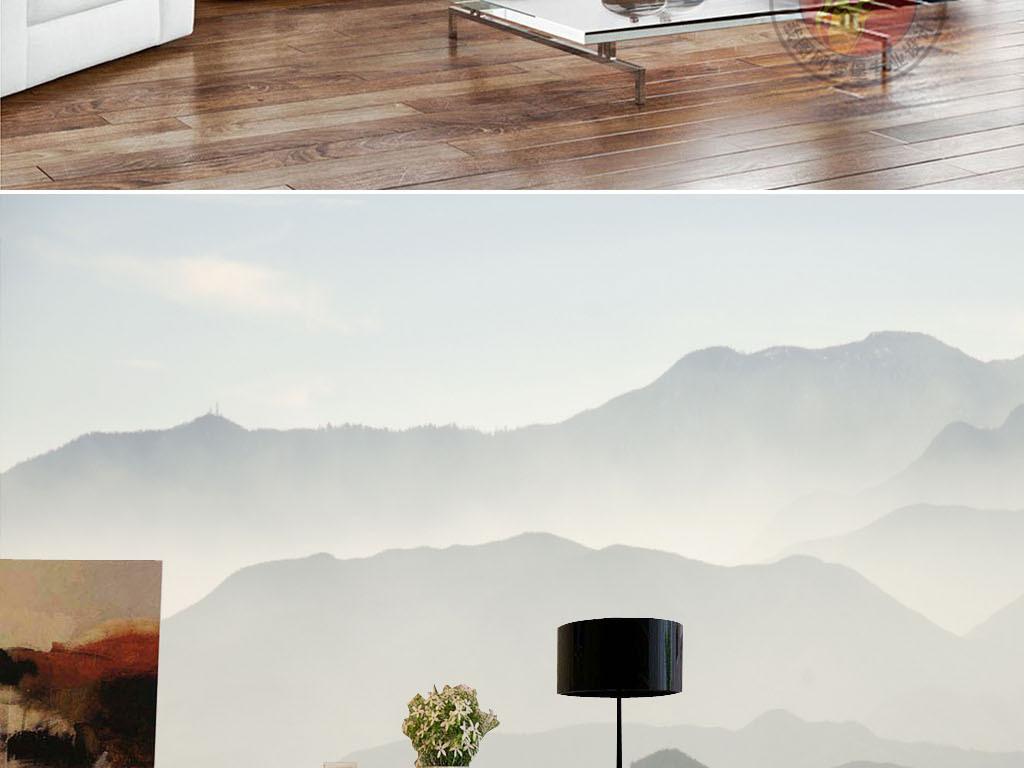 后现代纹理山脉工装ktv酒店沙发客厅手绘人物手绘背景手绘墙手绘背景