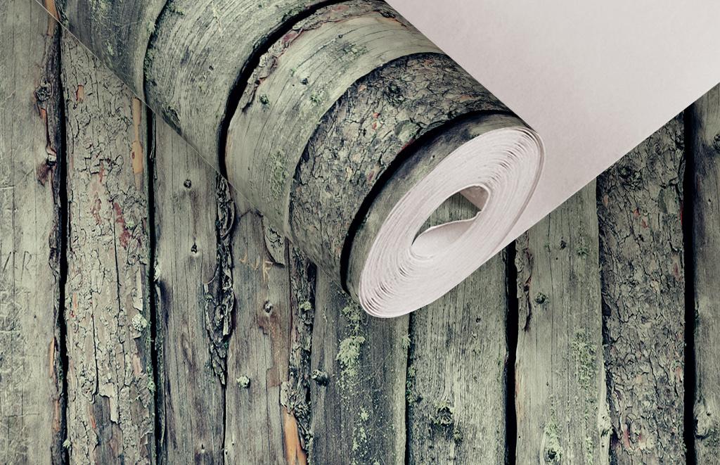 复古青苔木块纹理墙纸