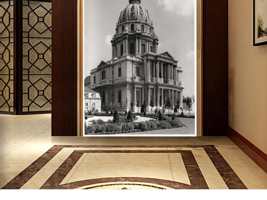 特塔埃菲尔铁塔图片埃菲尔铁塔油画复古埃菲尔铁塔埃菲尔铁塔 黑白