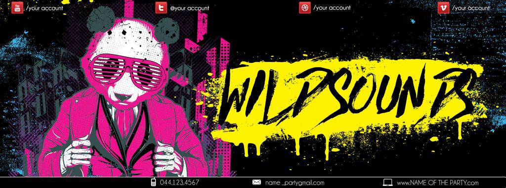 多色手绘涂鸦插画风格狂野嘻哈派对宣传海报