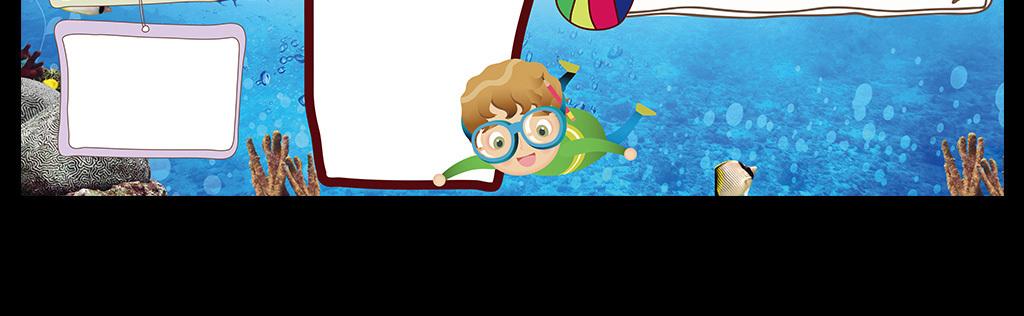 快乐暑假游泳安全英语小报手抄报模板