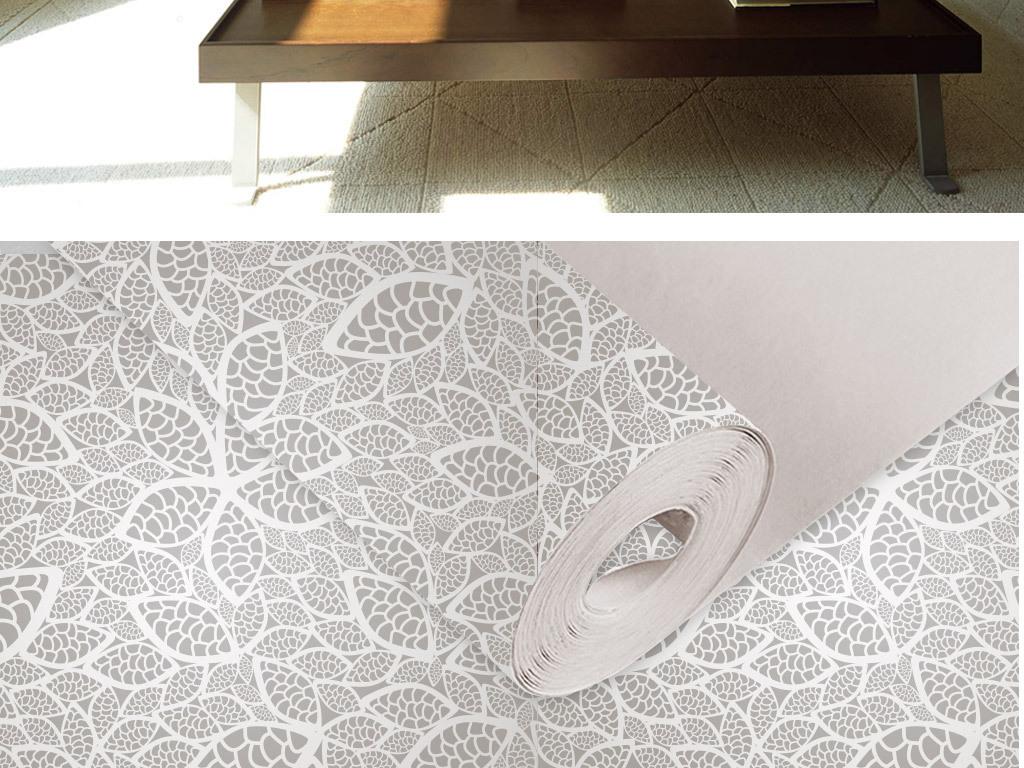 欧式创意手绘花纹室内壁纸墙纸