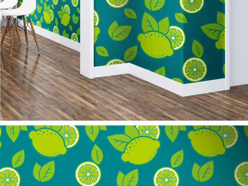 手绘水果清爽墙纸