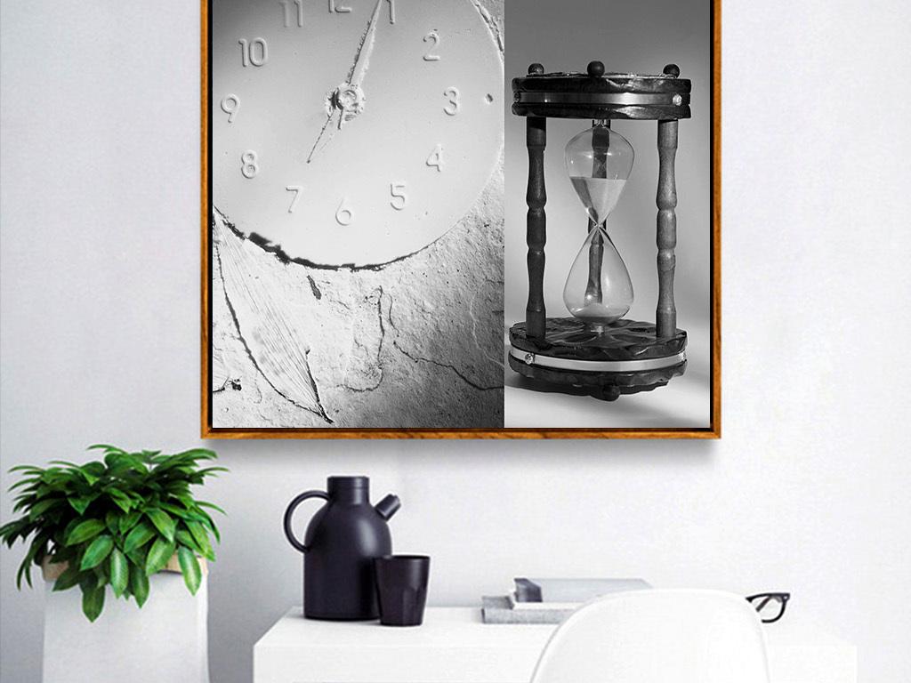 时间沙漏无框画图片设计素材 高清模板下载 10.40MB 小清新装饰画大全