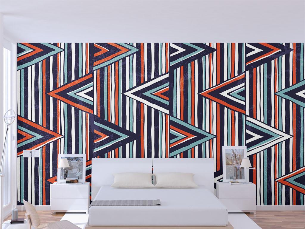 现代简约几何线条墙纸(图片编号:15518952)_现代简约图片