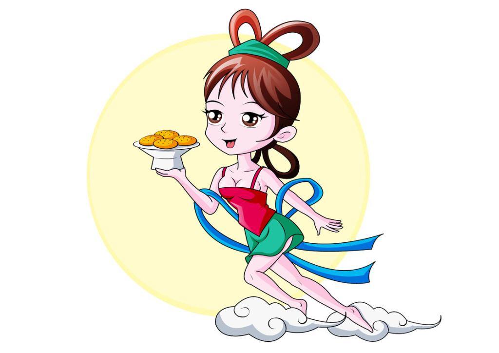 嫦娥仙子卡通形象设计图片