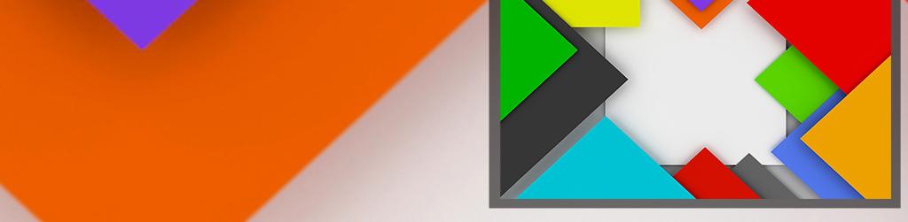 3d时尚立体几何图形三角形色板电视背景墙图片