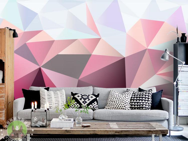 3D立体抽象几何背景墙