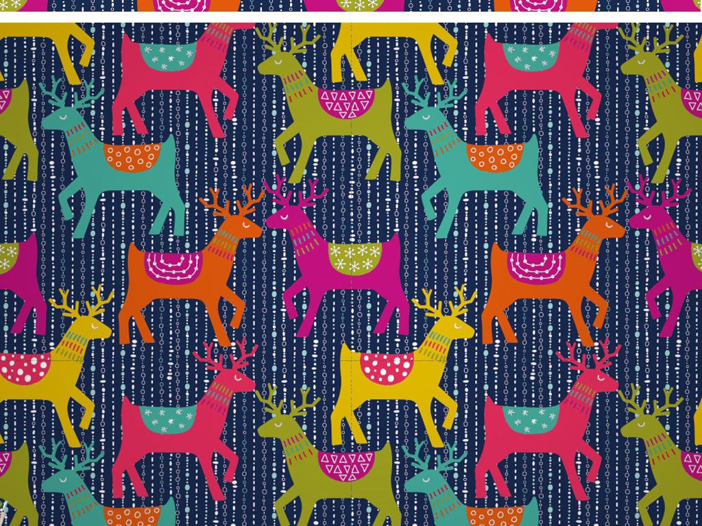 创意手绘动物羊墙纸