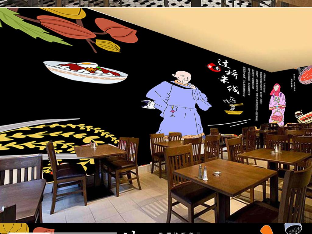 背景墙|装饰画 工装背景墙 酒店|餐饮业装饰背景墙 > 手绘传统云南