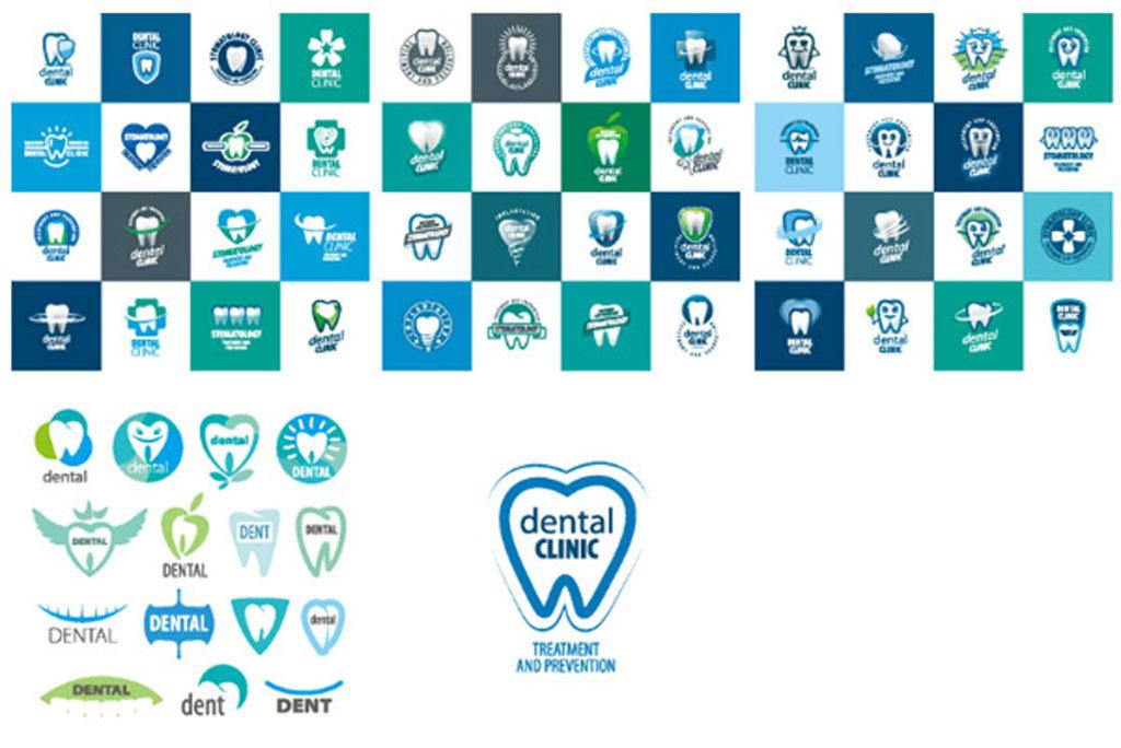 个性牙齿图标牙科标志