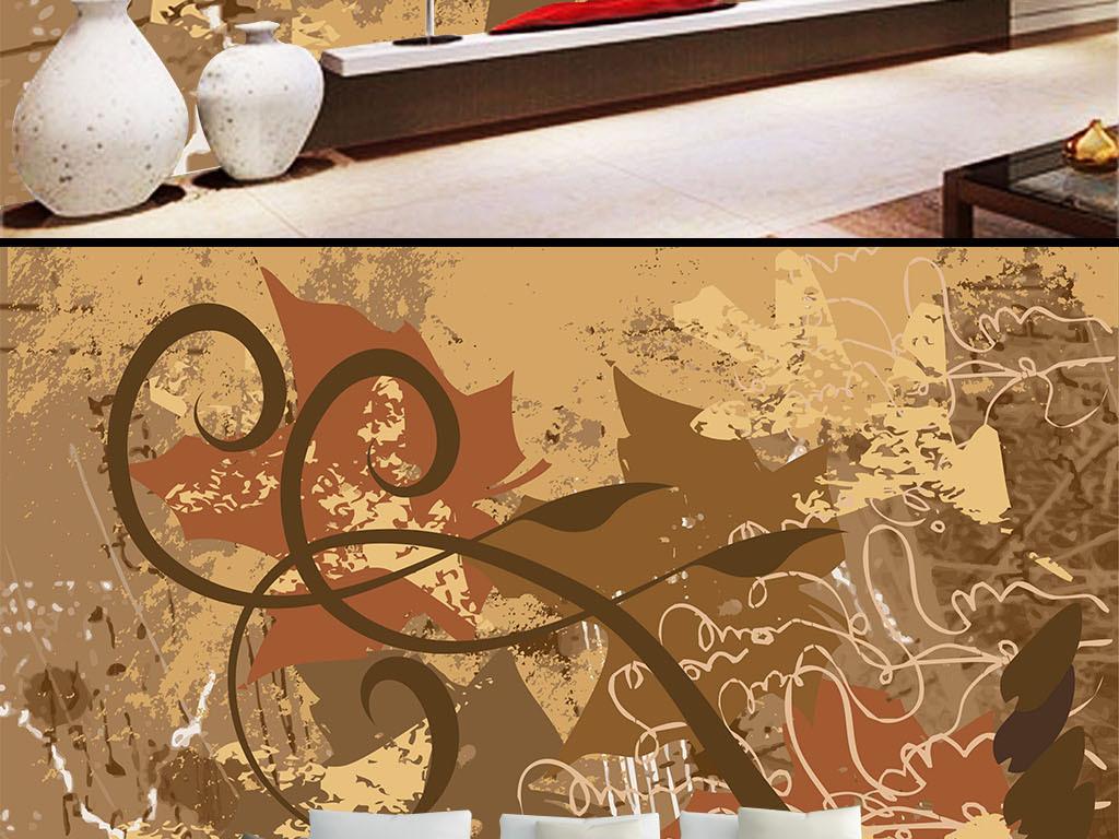 复古个性涂鸦背景墙