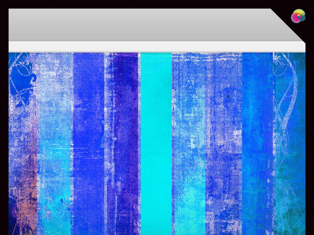手绘现代抽象几何背景墙