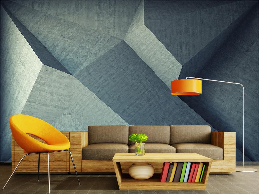 北欧风创意几何图案无框画图片