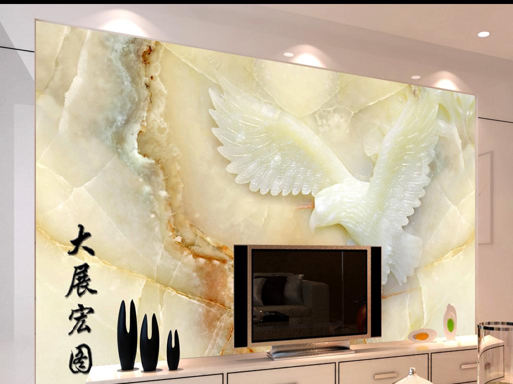 电视背景墙背景墙石板墙木雕玉雕风景画大理石玉石大