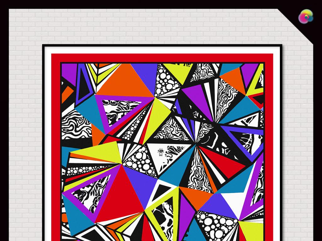 背景墙|装饰画 无框画 抽象图案无框画 > 手绘现代简约几何线条无框画