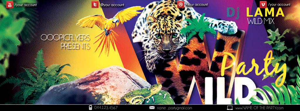 平面|广告设计 海报设计 国外创意海报 > 狂野自然野生动物丛林乐园创