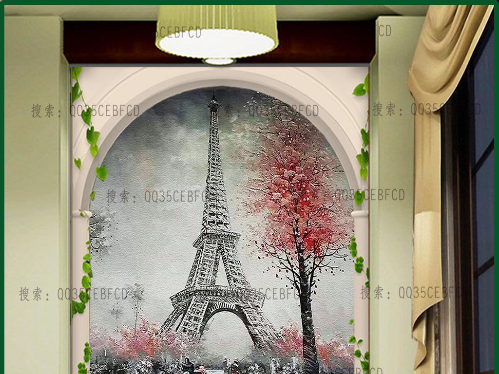 巴黎铁塔街道风光(图片编号:15534161)_欧式电视背景