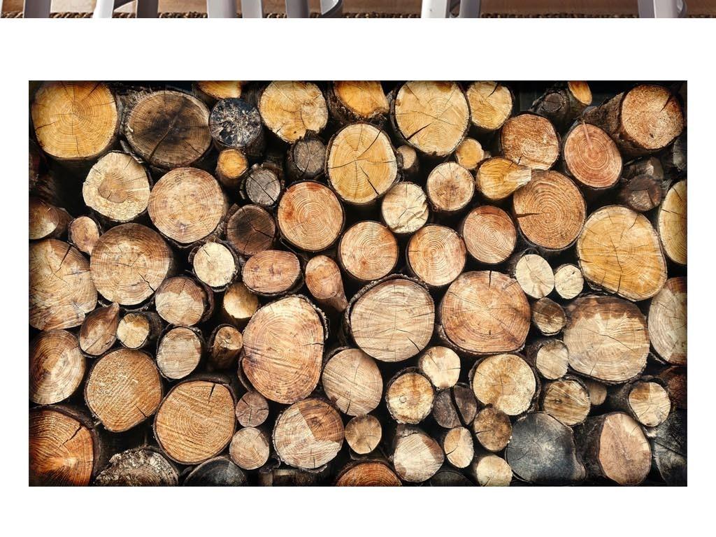 圆木片森系手绘图片